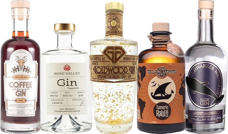 Ausgefallene Getränke - Gin-Auswahl