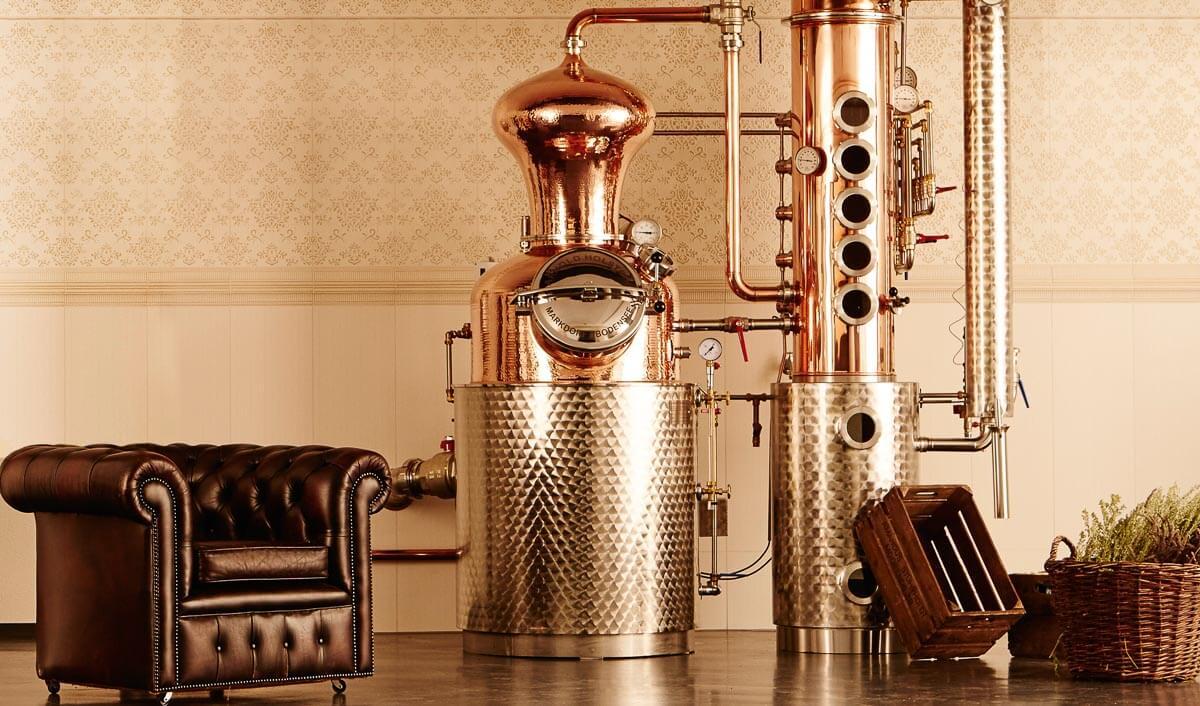 Beispiel einer Gin-Destille in der Windspiel Manufaktur.