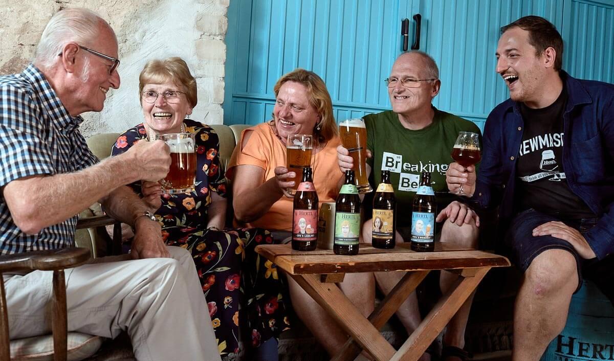 Brauerei Hertl - Die Familien Biere