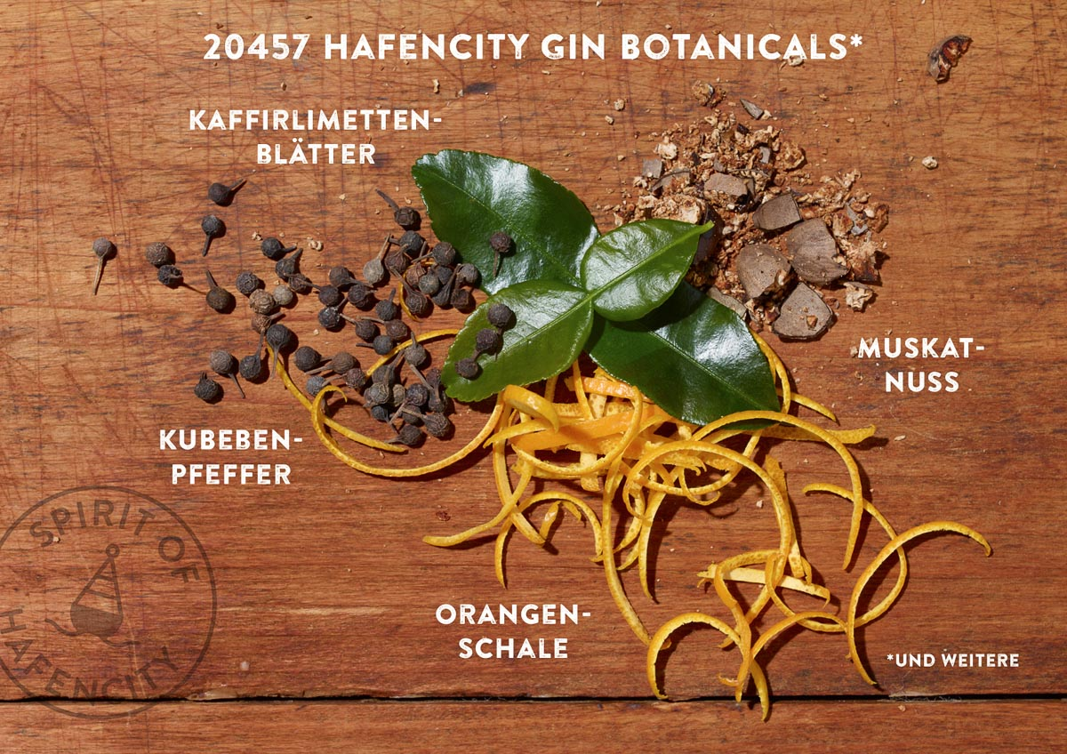 Spirit of Hafencity Gin Botanicals