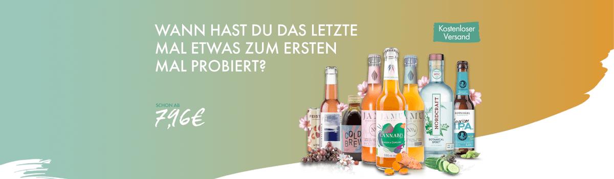 Getränke in Probierpaketen online kaufen - Genuss für den Frühling