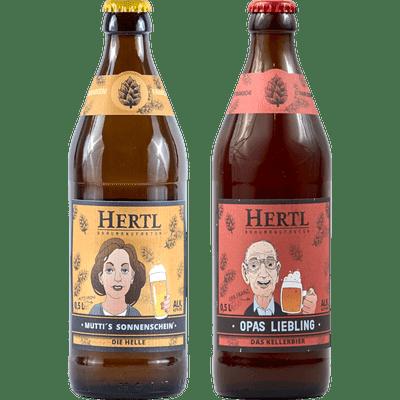 Maximale Süffigkeit - 20x Craft Beer von der Braumanufaktur Hertl (10x Mutti's Sonnenschein Helles + 10x Opas Liebling Kellerbier)