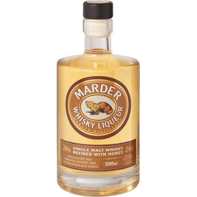Marder Whisky Liqueur - Single Malt Whisky mit Waldhonig verfeinert, 500ml