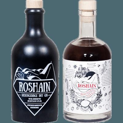 Mythos in der Flasche - 2x Craft Gin (1x Roshain Siebengebirge Dry Gin + 1x Roshain Siebengebirge Sloe Gin)