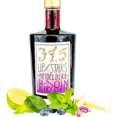 315 Upstairs Heidelberg BilBerry Gin mit allen Botanicals