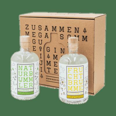 Manukat Gin Probierset groß (1x Naturbummler Dry Gin + 1x Fruchtbrumme Compound Gin)