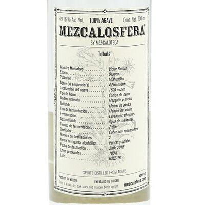 Mezcalosfera Tobala Mezcal 2018 Etikett