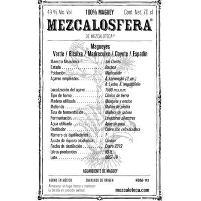 Mezcalosfera Ensamble Mezcal Etikett