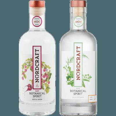 Hamburger Destilleriekunst im Superduo (1x NORDCRAFT Dry Botanical Spirit Dill & Gurke + 1x NORDCRAFT Dry Botanical Spirit Bete & Beere)