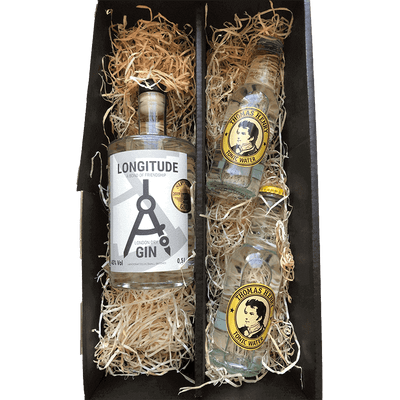 Longitude Gin & Tonic Box - 1x London Dry Gin (0,5 l) + 2x Tomas Henry Tonic Water (je 0,2 l)
