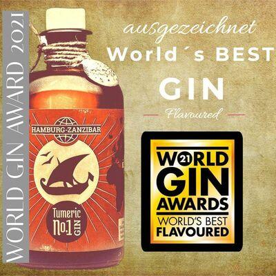 Tumeric No.1 Gin Auszeichnung