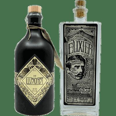 Gin Probierpaket - Das Mystische (1x Elixier Gin + 1x The Illusionist Dry Gin)