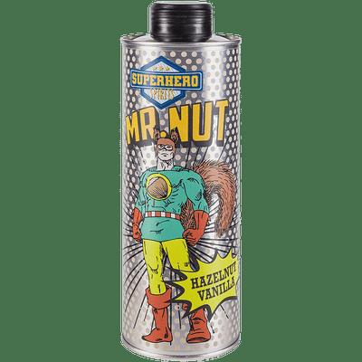 Mr. Nut | Haselnuss-Vanille Likör | Superhero Spirits | Flasche front