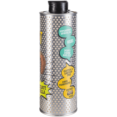 Mr. Nut | Haselnuss-Vanille Likör | Superhero Spirits | Flasche Seite 2