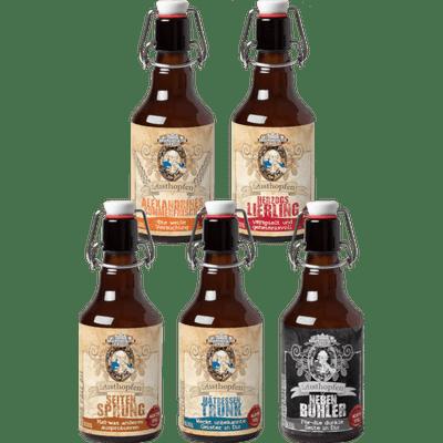 Hopfen voller Lust - 6x Craft Beer von der Braumanufaktur Ludwigslust (Pils + Weizen + Schwarzbier + IPA + Doppelbock)