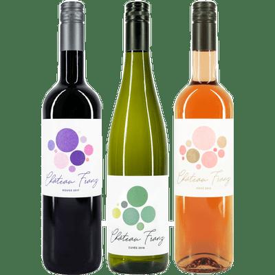 Château Franz Probierpaket - 3x Wein (1x Rotwein + 1x Weißwein + 1x Rosé)