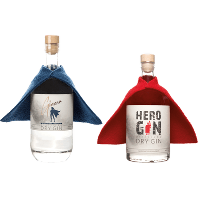 Supercraftpaket - 2x Craft Gin (1x Hero Gin + 1x Ginera)