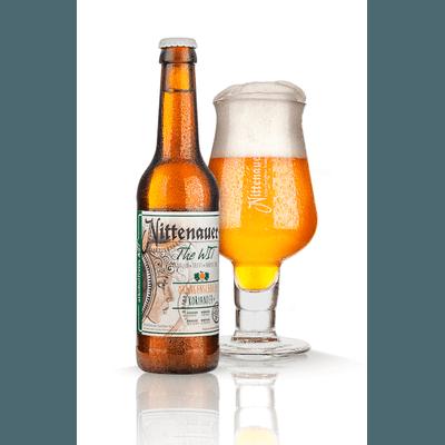 WIT alkoholfrei - Orangenschale & Koriander mit Glas
