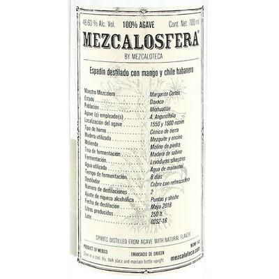 Mezcalosfera Pechuga Mezcal Mango Chili 2018 Etikett