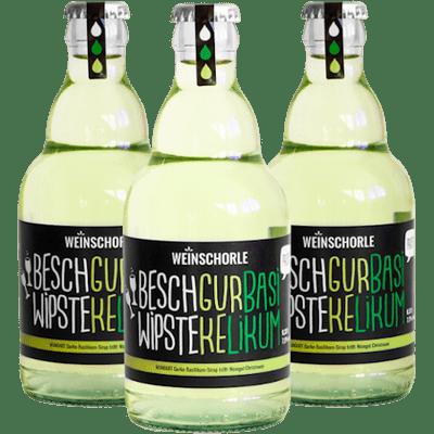 3x MUNDART® Weinschorle mit Gurke-Basilikum-Sirup